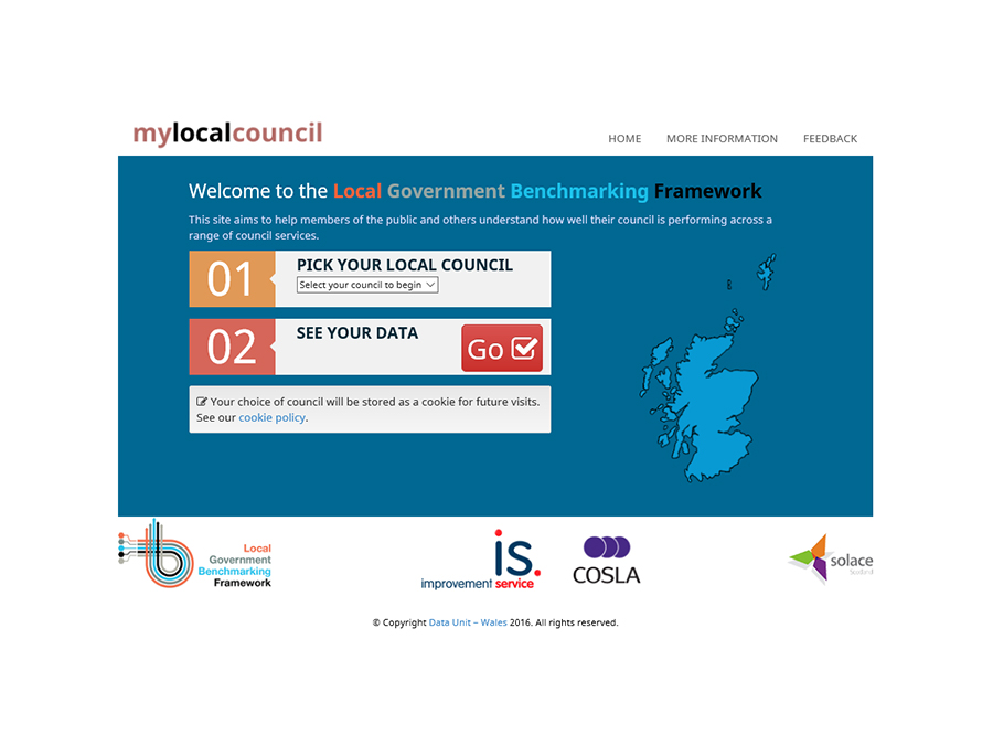 Local Government Framework sacotland screenshot