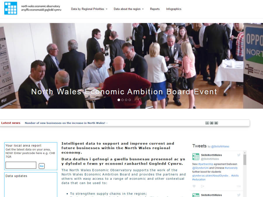 North Wales Economic Observatory screenshot