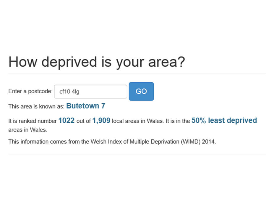 WIMD - How deprived is your area? screenshot 2